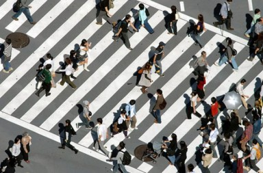 people crosswalk